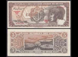 Brasilien - Brazil 5 Cruzado (1961/62) Pick 166a UNC (1) Sig.8 (25410