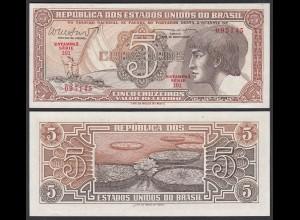 Brasilien - Brazil 5 Cruzado (1961/62) Pick 166b UNC (1) Sig.10 (25411
