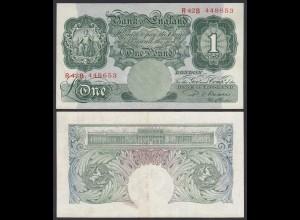 Grossbritannien - Great Britain ONE POUND BANKNOTE ND 1949-55 Pick 369b VF+