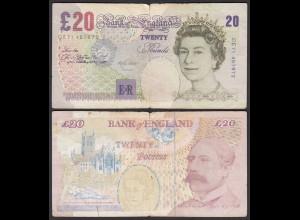 Grossbritannien - Great Britain 20 POUND ND (1999-04) Pick 390 VG (5) (25425