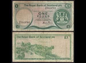 Schottland - Scotland 1 POUND 1985 Pick 341b F- (4-) (25426