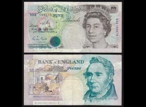 Grossbritannien - Great Britain 5 POUND ND (1990-91) Pick 382a F/VF (3/4)