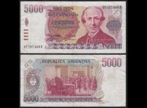 Argentinien - Argentina 5000 Peso 1984-85 Pick 318a VF- (3-) (19772