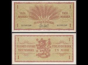 FINNLAND - FINLAND 1 MARKKA 1963 PICK 98a XF (2) (25443
