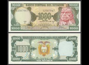 Ecuador 1000 Sucres Banknoten 1986 Pick 125a UNC (1) (25444