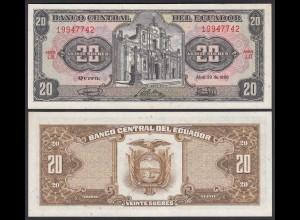 Ecuador 20 Sucres Banknote 1986 Pick 121Aa UNC (1) (25445