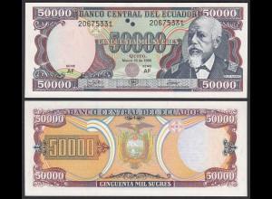 Ecuador 50000 50.000 Sucres 10.3.1999 Pick 130c UNC (1) (25446