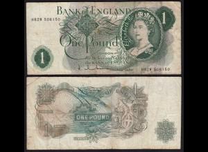 Grossbritannien - Great Britain 1 POUND ND (1962-66) Pick 374d F- (4-) (25454