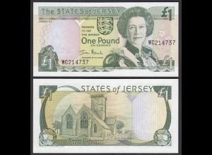 Jersey UK - 1 Pound Banknote (2000) UNC Pick 26a (25416