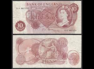 Grossbritannien - Great Britain 10 Shilling ND (1966-70) Pick 373c F+ (4+)