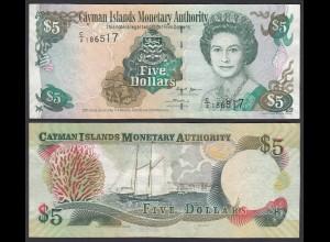 Cayman-Inseln 5 Dollars 2005 Serie C/2 Pick 34a VF/XF (2/3) (25464