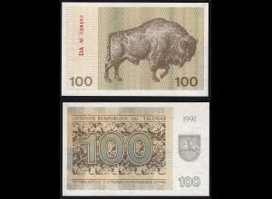 LITAUEN - LITHUANIA - 100 TALONAS 1991 UNC PICK 38b (25465