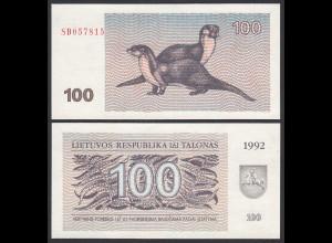 Litauen - Lithunia 100 Talonas Banknote UNC 1992 Pick 42 (25466