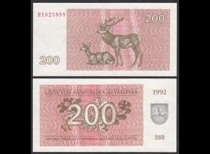 LITAUEN - LITHUANIA - 200 TALONAS 1992 PICK 43a UNC (1) (25469