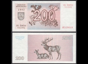 LITAUEN - LITHUANIA - 200 TALONAS 1993 PICK 45 aUNC (1-) (25470