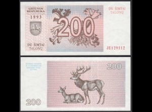 LITAUEN - LITHUANIA - 200 TALONAS 1993 PICK 45 UNC (1) (25471