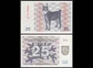 LITAUEN - LITHUANIA - 25 TALONAS 1991 PICK 36b UNC (1) (25472