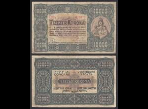 Ungarn - Hungary 10000 10.000 Korona 1923 Pick 77a VG/F (4/5) (25494