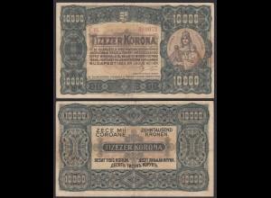 Ungarn - Hungary 10000 10.000 Korona 1923 Pick 77c F+ (4+) (25495