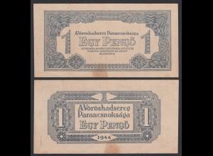 Ungarn - Hungary 1 Pengo Banknote 1944 Pick M2 VF- (3-) (25496
