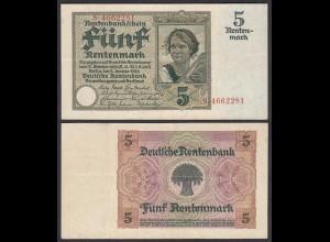 Germany 5 Rentenmark 1926 Pick 169 XF XRAR (25552