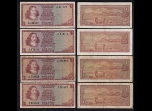 Südafrika - South Africa 4 Stück á 1 Rand (1973) Pick 116a (25562