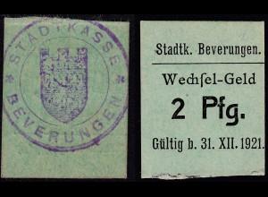 Westfalen - Beverungen 2 Pfennig Notgeld 1921 (25567