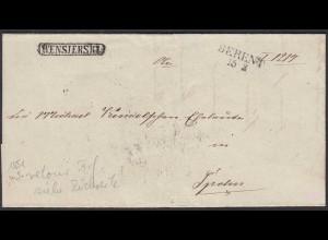 Preussen Brief 1851 BERENT L2 (RB DANZIG) - SPOHN Briefträgerstempel