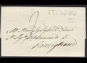 ITALIEN Brief 1837 VITERBO L1 nach Ronciglione Inhalt (25590