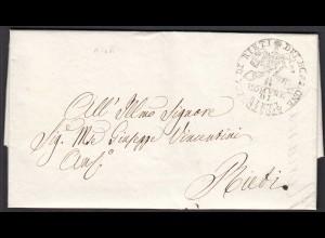 ITALIEN Orts-Brief 1858 ? der COMUNE DI RIETI (25596