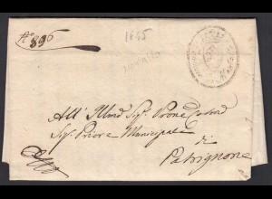 ITALIEN Brief 1845 Comune di Montalto ? der COMUNE DI RIETI (25597