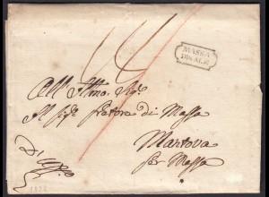 ITALIEN Brief 1828 MASSA DUCALE - MANTOVA mit Inhalt (25598