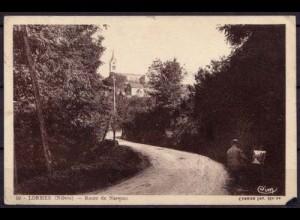 AK Lormes Niévre Route de Narveau France (7602