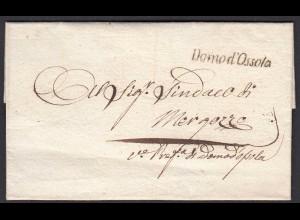 ITALIEN Alter Umschlag Domond Ossola - Mergozzo (25602