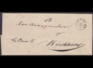 Preussen Umschlag DORTMUND R1 nach KIRCHHOVEN (25603