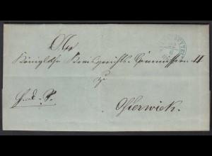 Preussen Brief WOLFENBÜTTEL R2b 1861 mit Inhalt (25604