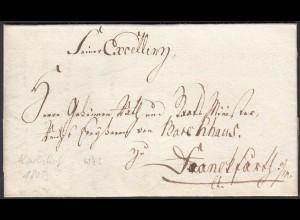 Preussen Karlshof 1805 Brief mit Inhalt WZ Papier (25611