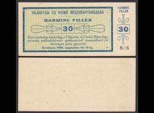 Ungarn - Hungary Vilagitasi 30 Filler 1920 XF (2) (25502