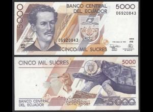 Ecuador 5000 5.000 Sucres 6.3.1999 Pick 128c UNC (1) (25449