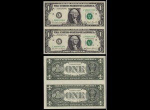 USA 1 Dollar 1981 2 Stück zusammenhängend selten (d090