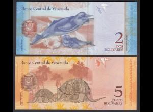 Venezuela 2 + 5 Bolivares 2007 + 2008 UNC (1) (25451