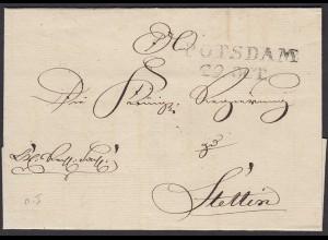 Preussen Umschlag ca. 1817 POTSDAM L2 - STETTIN (25616
