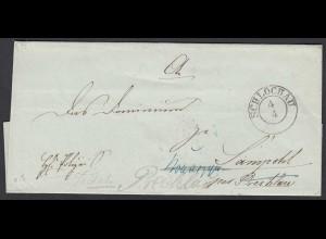 Preussen Umschlag SCHLOCHAU K2 (Człuchów) nach Prechlau (25619