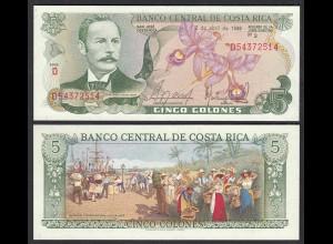 COSTA RICA 5 Colones Banknote UNC (1) Pick 236d (25646