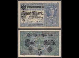 Darlehnskassenschein 5 MARK 1917 8-stellig Ros. 54b UNC (1) (25650