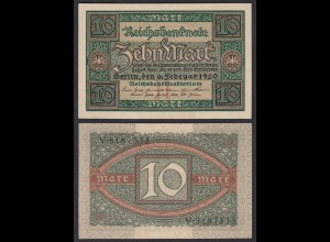 Reichsbanknote 10 Mark 1920 Ro. 63a Pick 67 UNC (1) (25651