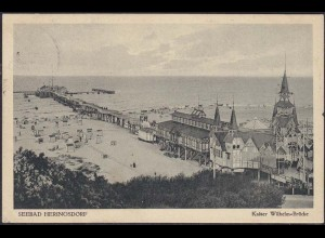 AK Heringsdorf Usedom Kaiser Wilhelm Brücke 1926 (12645