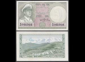 Nepal - 5 Rupees Banknote (1972) Pick 17 sig.8 UNC (1) (25672