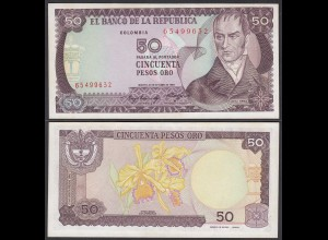 Kolumbien - Colombia 50 Pesos 1985 Pick 425a UNC (25698