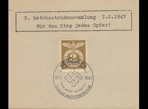 NS Propaganda Karte 3.Reich Reichsparteitag SST 10 Jahre Machtübernahme